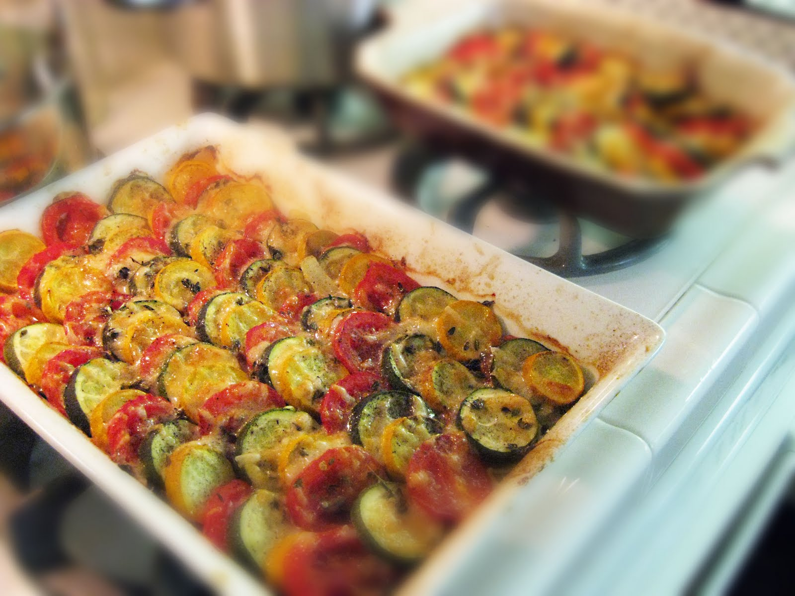vegetable tian: anatomy of a dinner party: buffet for 12 - sis