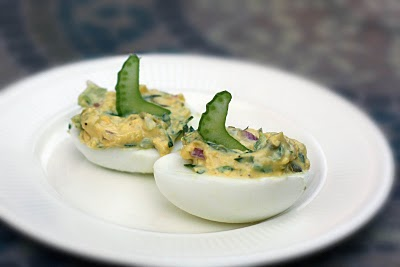 Deviled Eggs with Capers and Tarragon - Sis. Boom. Blog!