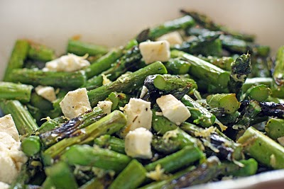 Roasted Asparagus and Feta Salad
