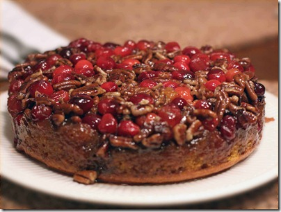Pumpkin Pecan Cranberry Upside Down Cake