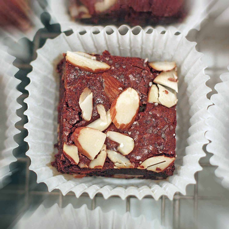 Salted Mayan Almond Brownies