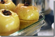 "Baked Apples ""Mendiant"" with Caramel Sauce"