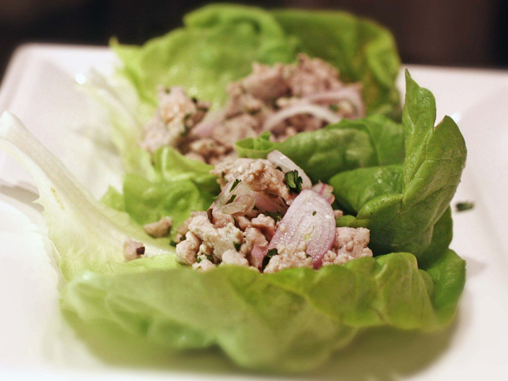 Thai Pork Lettuce Wraps - Sis. Boom. Blog!
