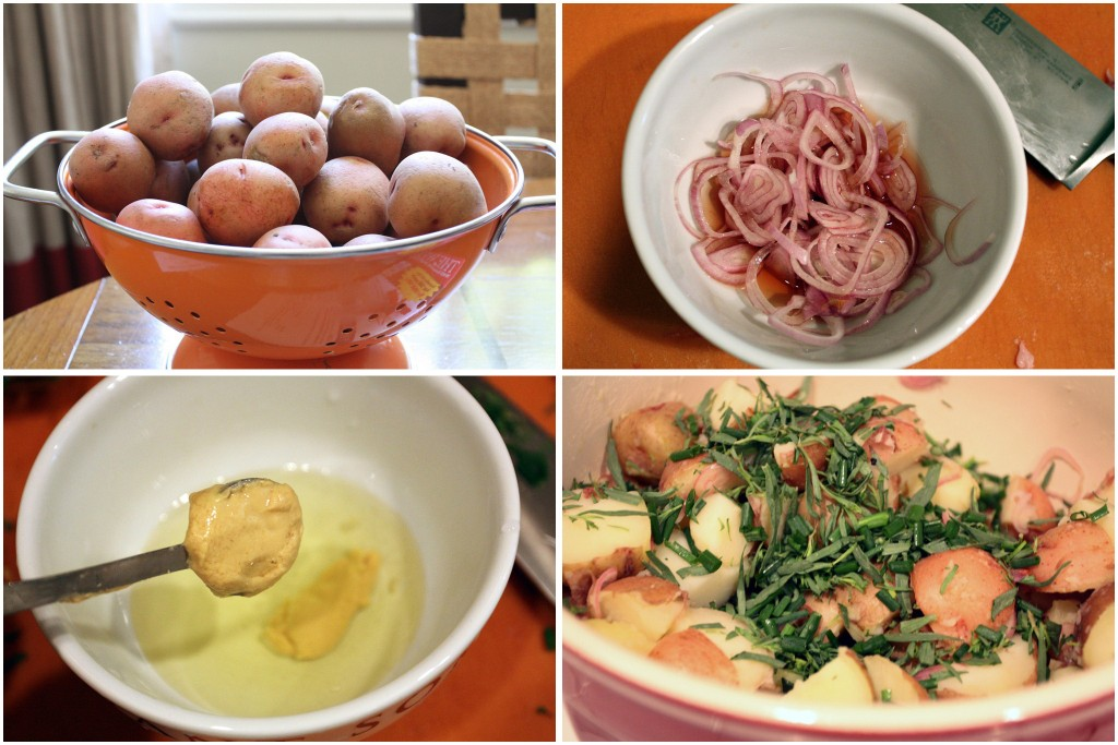Potato Salad with Tarragon and Chives