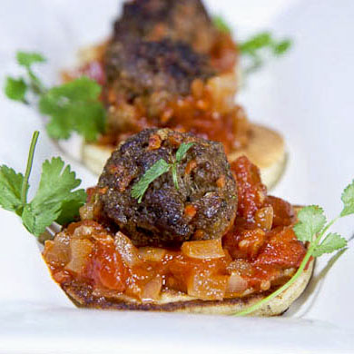 Moroccan Lamb Meatballs with Spicy Tomato Chutney
