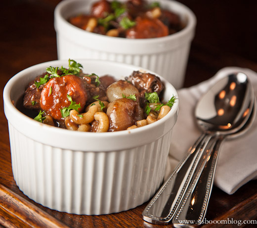 Beef Chuck Daube with Carrots and Elbow Macaroni