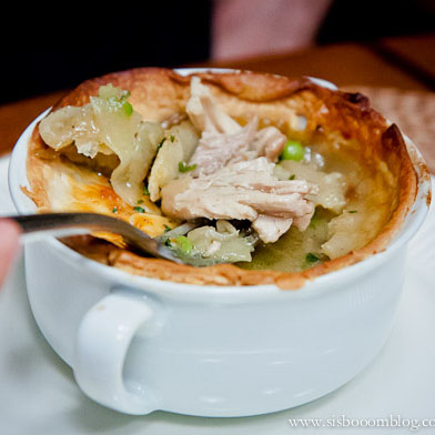 Chicken Curry with Peas (Pot Pie)