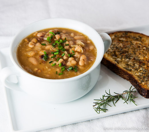 Navy Bean with Bacon Soup