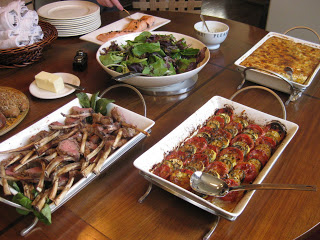 Vegetable tian anatomy of a dinner party buffet for 12 - Ina garten main house ...