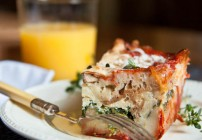 Tomato and Spinach Strata