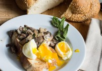 Creamy Mushrooms and Eggs (aka Stuff on Toast)