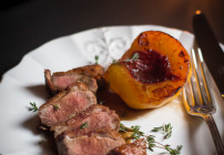Duck with peaches-1