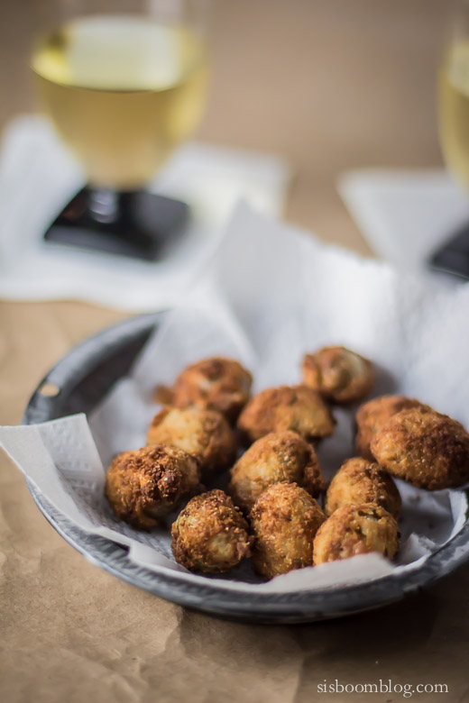 Fried Olives Stuffed with Blue Cheese - Sis. Boom. Blog!