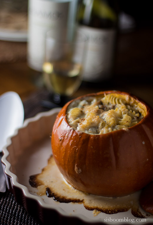 Pumpkin Stuffed with Fontina