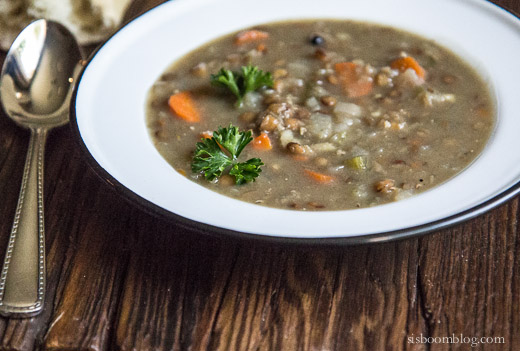 orange scented lentil soup