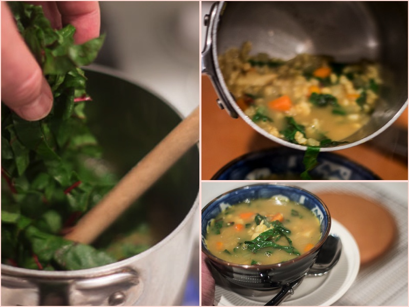 Vegetable Barley Soup with the Taste of Little India