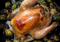 cornish hen stuffed with sausage-1